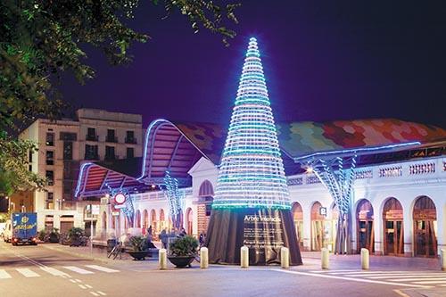 Árboles de Navidad de Barcelona 2008-2009