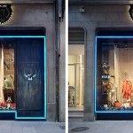 Iluminación de la boutique Jacme en Ourense