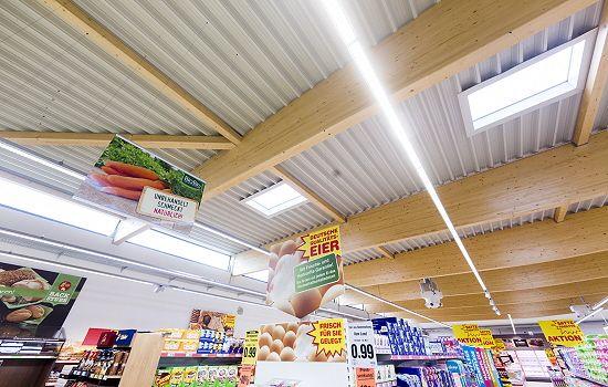 Luz natural con Lledó Sunoptic en la cadena alemana Netto Marken Discount