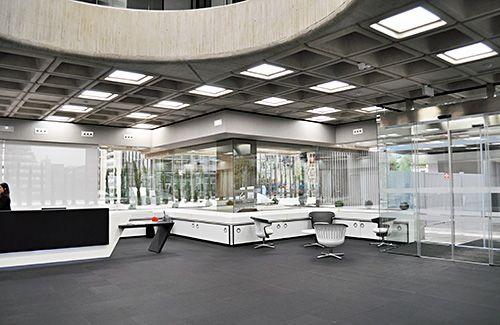 Iluminación de las nuevas oficinas del Banco Santander en Madrid