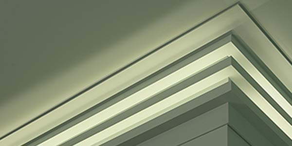 Nuevas cornisas de iluminación indirecta de Orac Decor