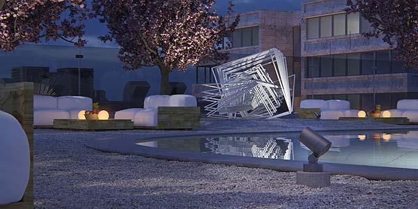Kona XS de Erco para la iluminación de exteriores