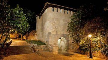 Iluminaciones efímeras para la noche de la luna llena en Segovia (julio 2017)