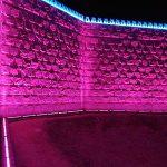 Iluminación LEDs en la muralla de Doha, Qatar