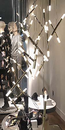 Iluminación de los escaparates de Navidad de Inditex