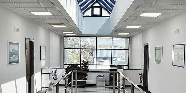 Oficinas en España de la empresa de logística Kuehne+Nagel, en Mejorada del Campo (Madrid)