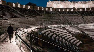 Iluminación del Teatro de Taormina, Sicilia