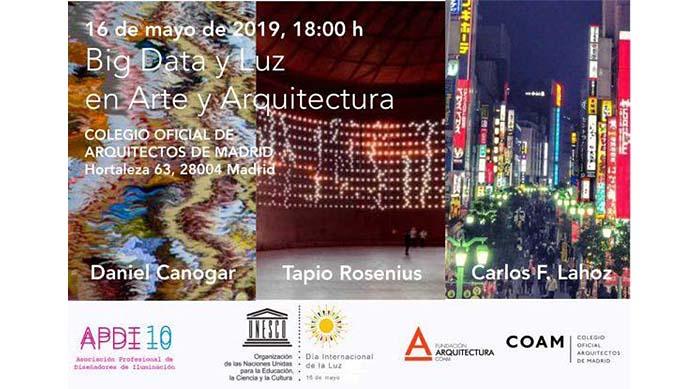 Jornada Big Data y Luz en Arte y Arquitectura para celebrar el Día Internacional de la Luz