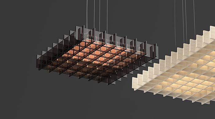 Lámpara Grid de inspiración japonesa para cualquier tipo de espacio