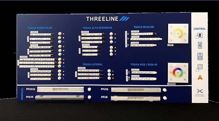 Gama completa de tiras led de Threeline