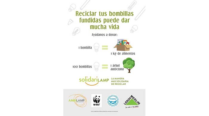 El reciclado de bombilla ofrece buenos resultados con la campaña SolidariLAMP